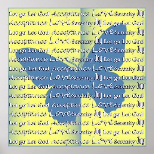 Slogan-Schmetterling Plakate