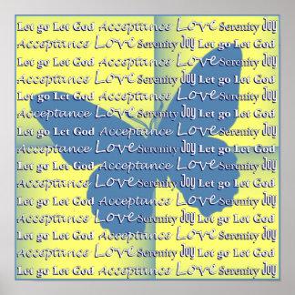 Slogan-Schmetterling Poster