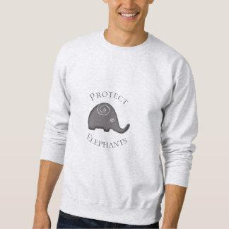 Slogan schützen Elefant-Erhaltungs-Aktivisten Sweatshirt