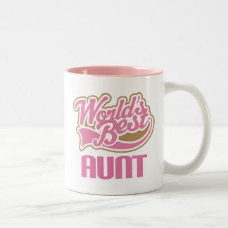 Slogan Tanten-Gift Cute Worlds Best Kaffeehaferl