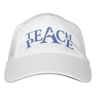 Slogan unterrichten Frieden weißen Taubenhut Headsweats Kappe