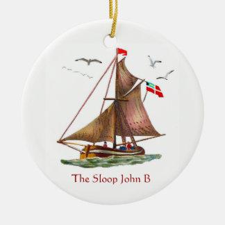 Sloop John B Keramik Ornament