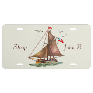 Sloop John B US Nummernschild