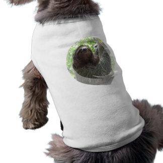 Sloth-Foto-Entwurfs-Hundeshirt T-Shirt