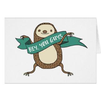"""Sloth-Illustration """"he Sie Typen """" Karte"""