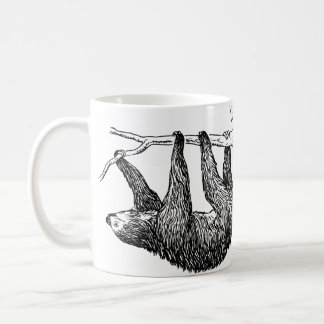 Sloth-Illustrations-Tasse Kaffeetasse