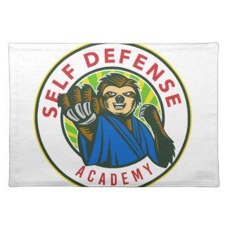 Sloth-Karate-Selbst - Verteidigung Abzeichen Tischset