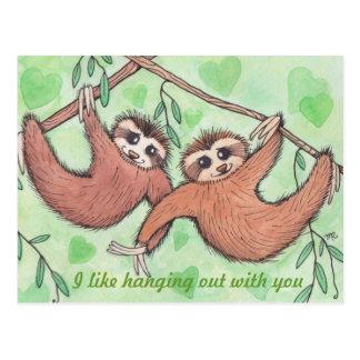 Sloth-LiebeValentine Postkarte