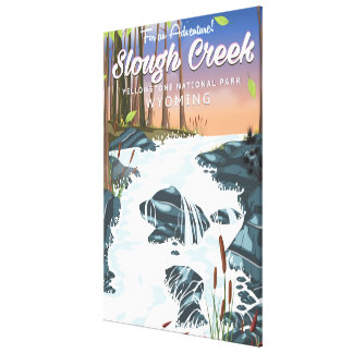 Slough-Nebenfluss, Yellowstone Nationalpark Leinwanddruck