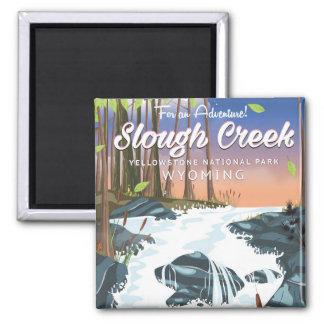 Slough-Nebenfluss, Yellowstone Nationalpark Quadratischer Magnet