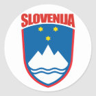 Slovenija (Slowenien) Runder Aufkleber