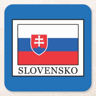Slovensko Rechteckiger Pappuntersetzer