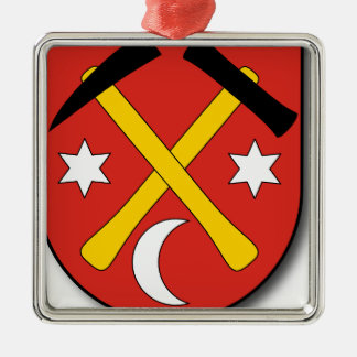 Slowakei #2 quadratisches silberfarbenes ornament