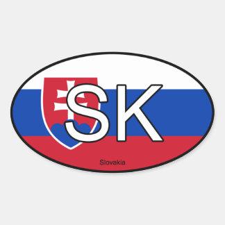 Slowakei-Euro-Aufkleber Ovaler Aufkleber