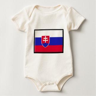 Slowakei-Flagge Baby Strampler
