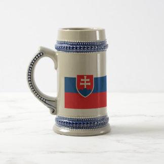 Slowakei-Flagge Bierglas