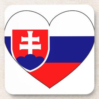 Slowakei-Flagge einfach Untersetzer