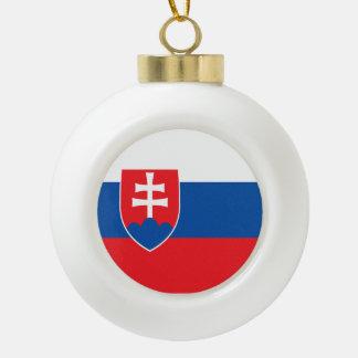 Slowakei-Flagge Keramik Kugel-Ornament