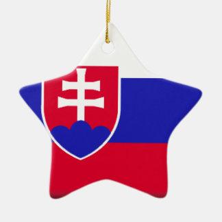 Slowakei-Flagge Keramik Stern-Ornament
