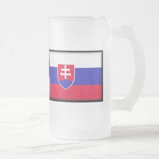 Slowakei-Flagge Mattglas Bierglas