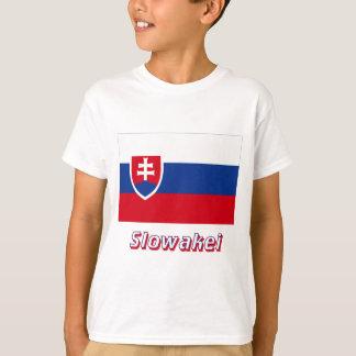 Slowakei Flagge MIT Namen T-Shirt