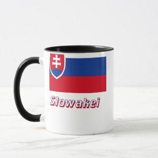 Slowakei Flagge MIT Namen Tasse