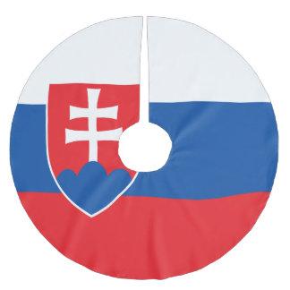 Slowakei-Flagge Polyester Weihnachtsbaumdecke