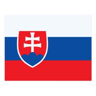 Slowakei-Flagge Postkarte