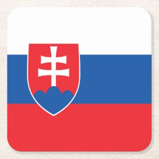 Slowakei-Flagge Rechteckiger Pappuntersetzer