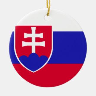 Slowakei-Flagge Rundes Keramik Ornament