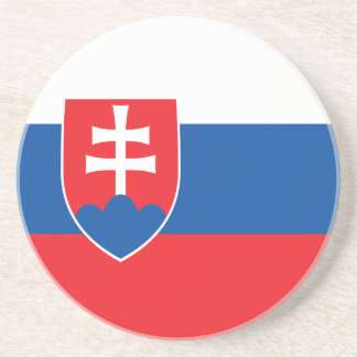 Slowakei-Flagge Sandstein Untersetzer