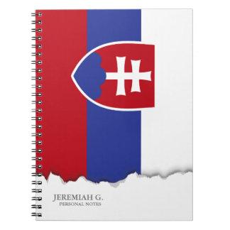 Slowakei-Flagge Spiral Notizblock