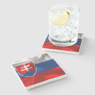 Slowakei-Flagge Steinuntersetzer