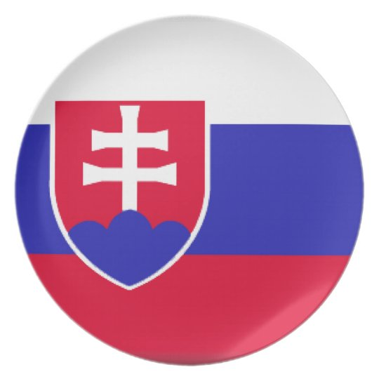 Slowakei-Flagge Teller
