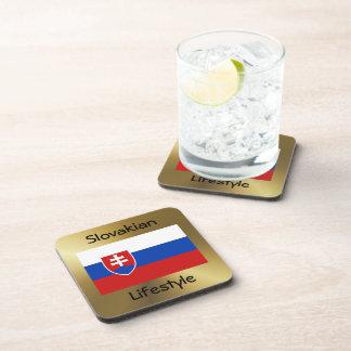 Slowakei-Flagge+Text-Untersetzer Untersetzer