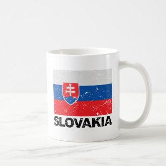 Slowakei-Flagge Vintag Kaffeetasse
