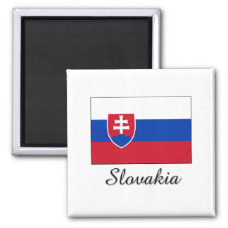 Slowakei-Flaggen-Entwurf Quadratischer Magnet