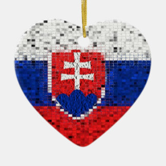Slowakei-Flaggen-Glitterverzierung Keramik Ornament