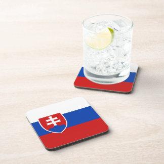 Slowakei-Flaggen-Untersetzer Getränkeuntersetzer