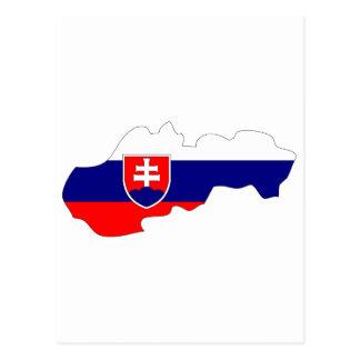 Slowakei-Flaggenkarte Postkarte