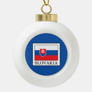 Slowakei Keramik Kugel-Ornament
