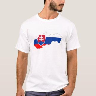 Slowakei-Landflaggen-Kartenform-Silhouette T-Shirt