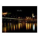 Slowakei, nachts, schöne Stadtbildphotographie Postkarte