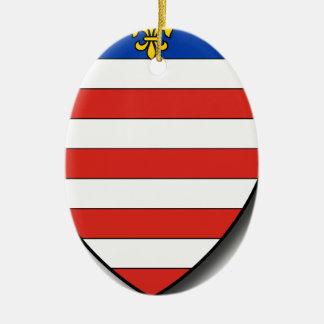 Slowakei Ovales Keramik Ornament