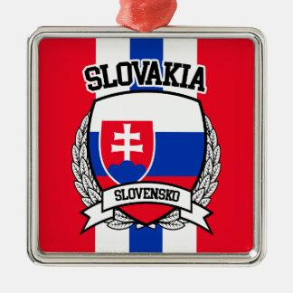 Slowakei Quadratisches Silberfarbenes Ornament