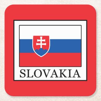 Slowakei Rechteckiger Pappuntersetzer