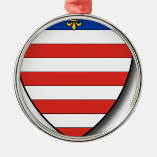 Slowakei Rundes Silberfarbenes Ornament
