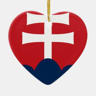 Slowakei-Wappen Keramik Herz-Ornament