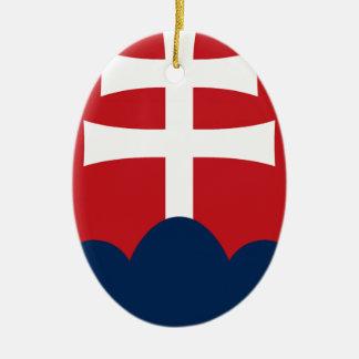 Slowakei-Wappen Ovales Keramik Ornament