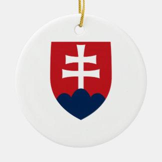Slowakei-Wappen Rundes Keramik Ornament